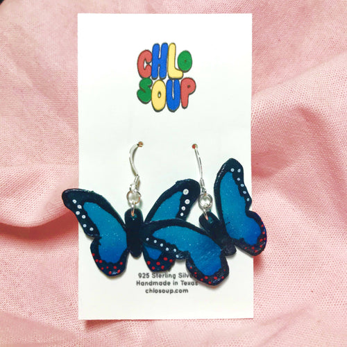 Blue Butterfly Earrings 🦋