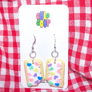 "Valentine's Day Heart Sprinkle ""Tot Part"" Earrings"