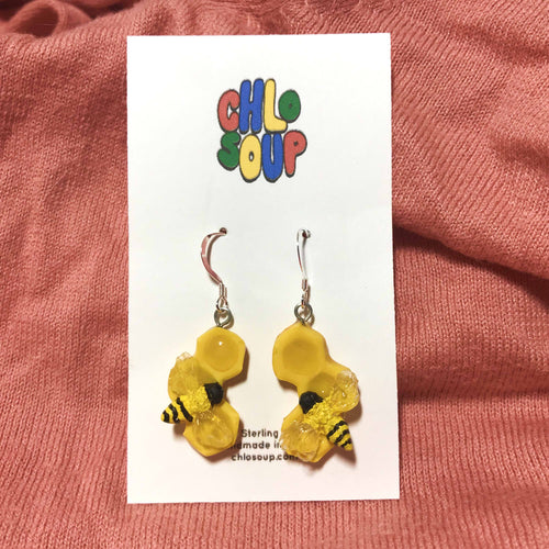 3 Comb Honeycomb Earrings
