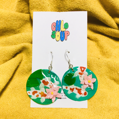 Koi Fish Pond Earrings