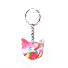 Load image into Gallery viewer, Marble Cat Keychain