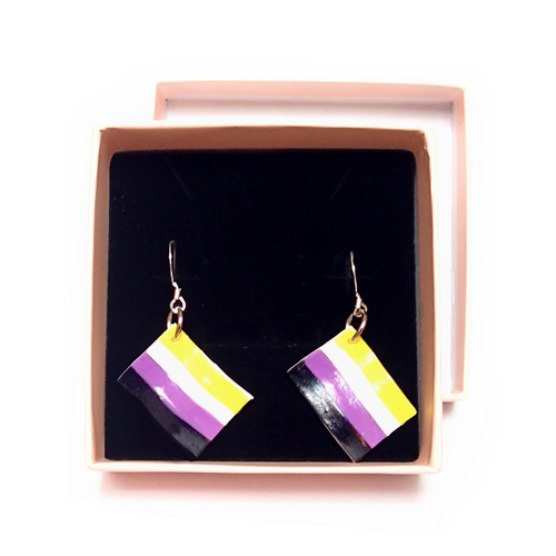Nonbinary Pride Flag Earrings