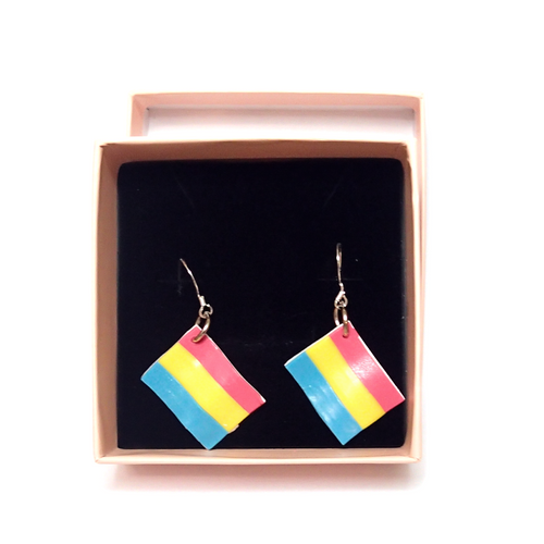 Pansexual Pride Flag Earrings