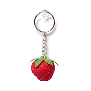Mini Squishy Strawberry Keychain