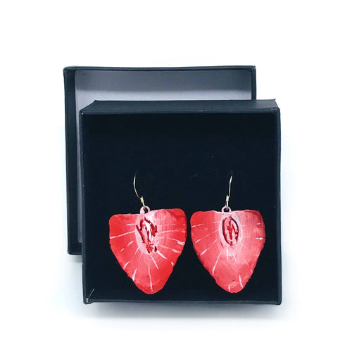 Strawberry Slice Earrings