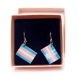 Trans Pride Flag Earrings