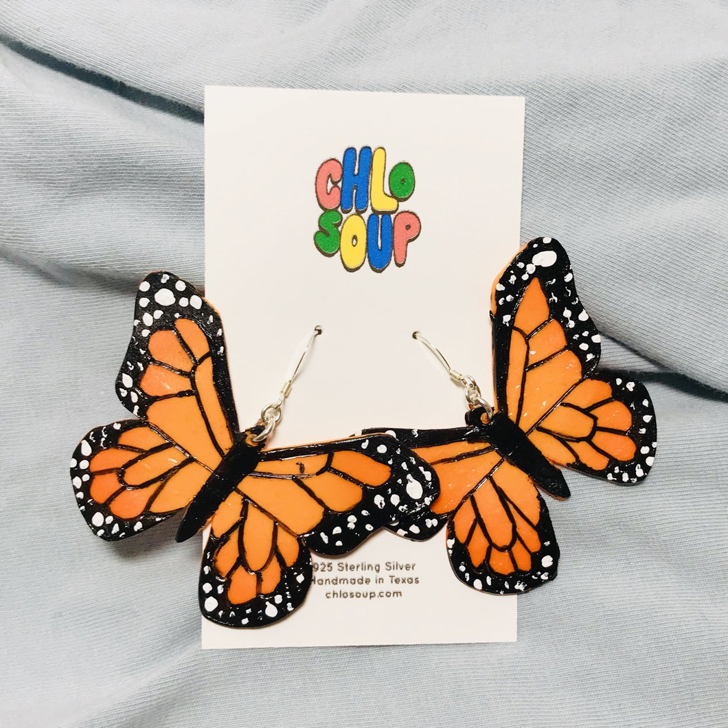 Monarch Butterfly Earrings