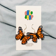 Load image into Gallery viewer, Monarch Butterfly Earrings