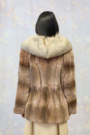Italian Coat with Fox Collar