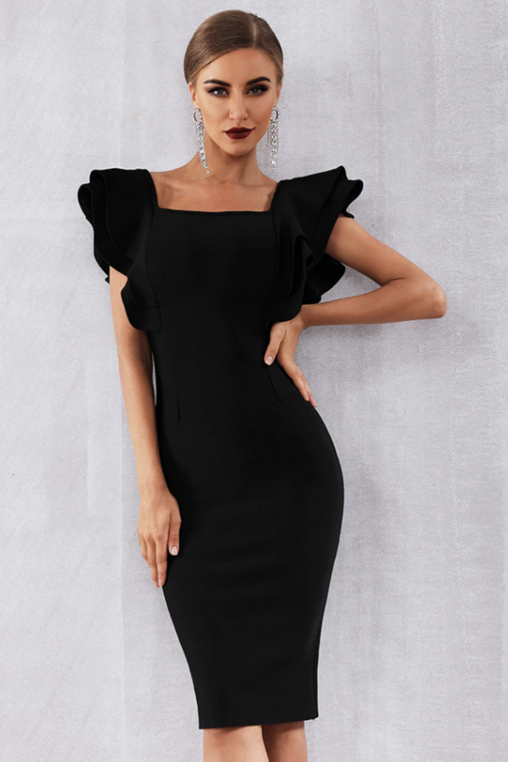 Butterfly Sleeve Bodycon Dress
