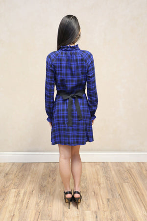 Rivine Plaid A-line Mini Dress