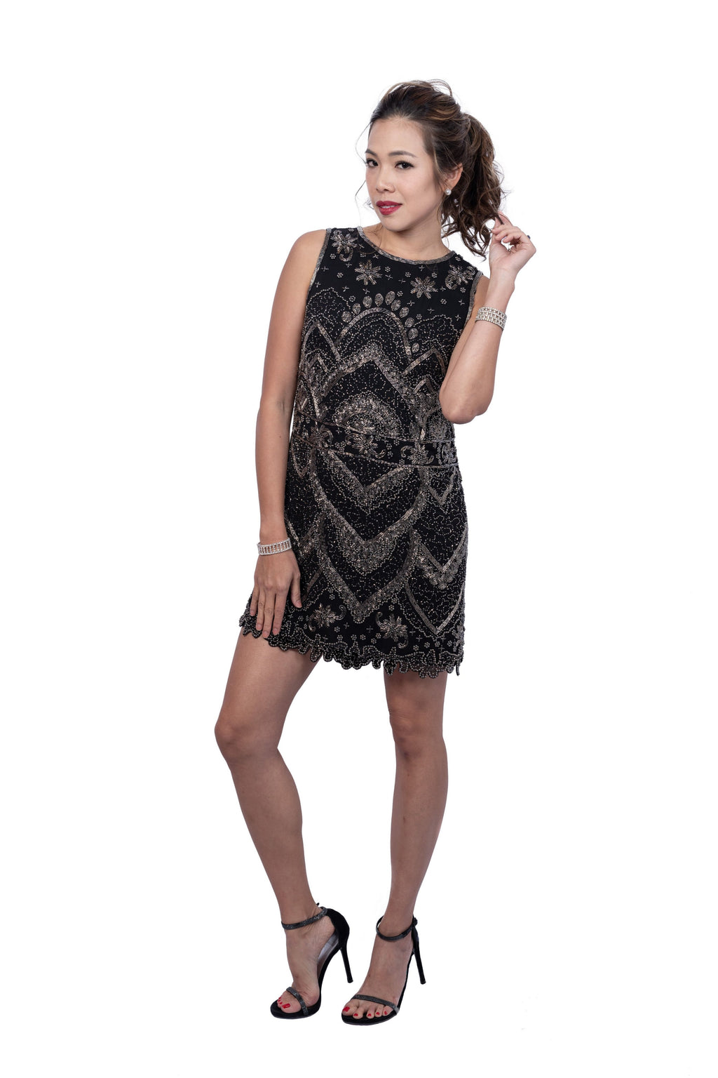 Clyde Embellished A-Line Minidress