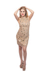 Eloise Sequined & Mirrored Mini Dress