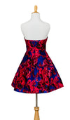Juniors Floral Strapless Dress