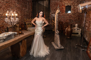Strapless Trumpet Dress Tony Bowls