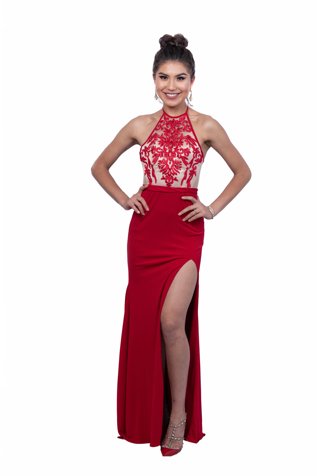 Illusion Halter Gown