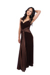 Halter Empire Bow Prom Dress