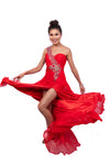 One Shoulder Sweetheart Gown