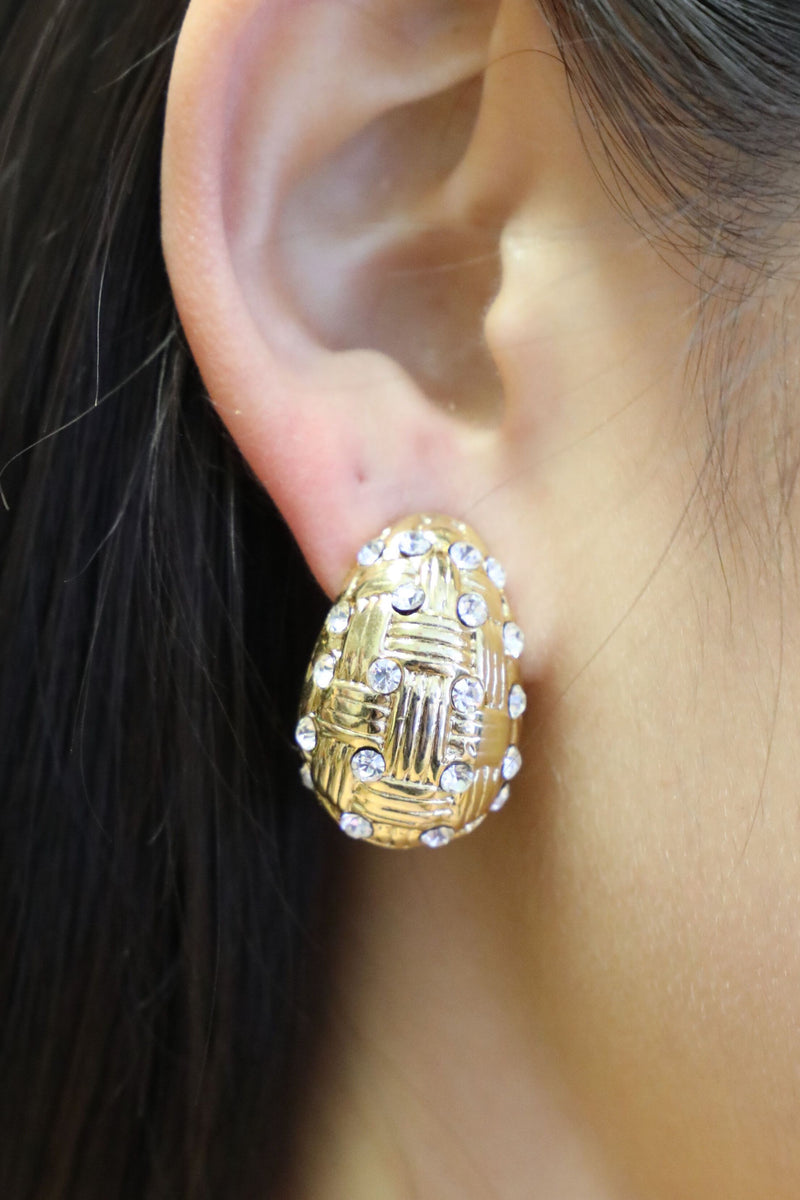 Clip-on Gold Earrings