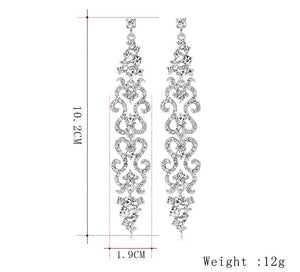 Elegant Long Drop Earrings