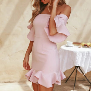 Retro Ruffle Mini Dress