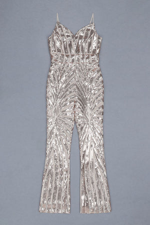 Sequined Full Length Jumpsuit