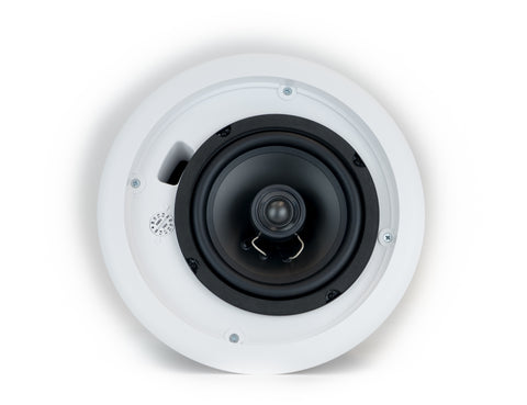 "Front View Quest 6.5"" Coaxial Speaker, 70/25 Volt transformer, High Style Without Grille w/ Back Box"