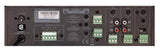 Rear View Quest 65W Small Footprint Mixer Amplifier + Tuner/Media Player Showing Inputs / Outputs