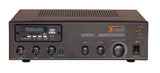 Front View Quest 65W Small Footprint Mixer Amplifier + Tuner/Media Player Showing Inputs / Outputs