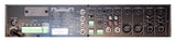 Rear View Quest 120W Public Address Mixer Amplifier Showing Inputs / Outputs