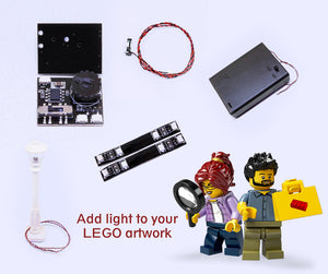 Add light to your LEGO artwork with Vonado.