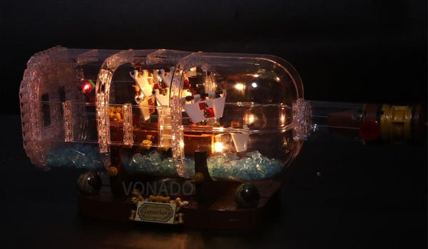 lighting ship in the bottle