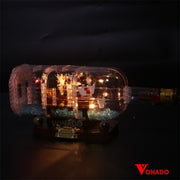 Vonado Ship in a Bottle #21313 Lego Led Light