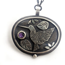 Load image into Gallery viewer, Hummingbird Visit - Amethyst - Necklace