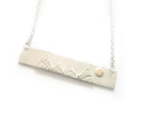 Mountain Range Bar Necklace