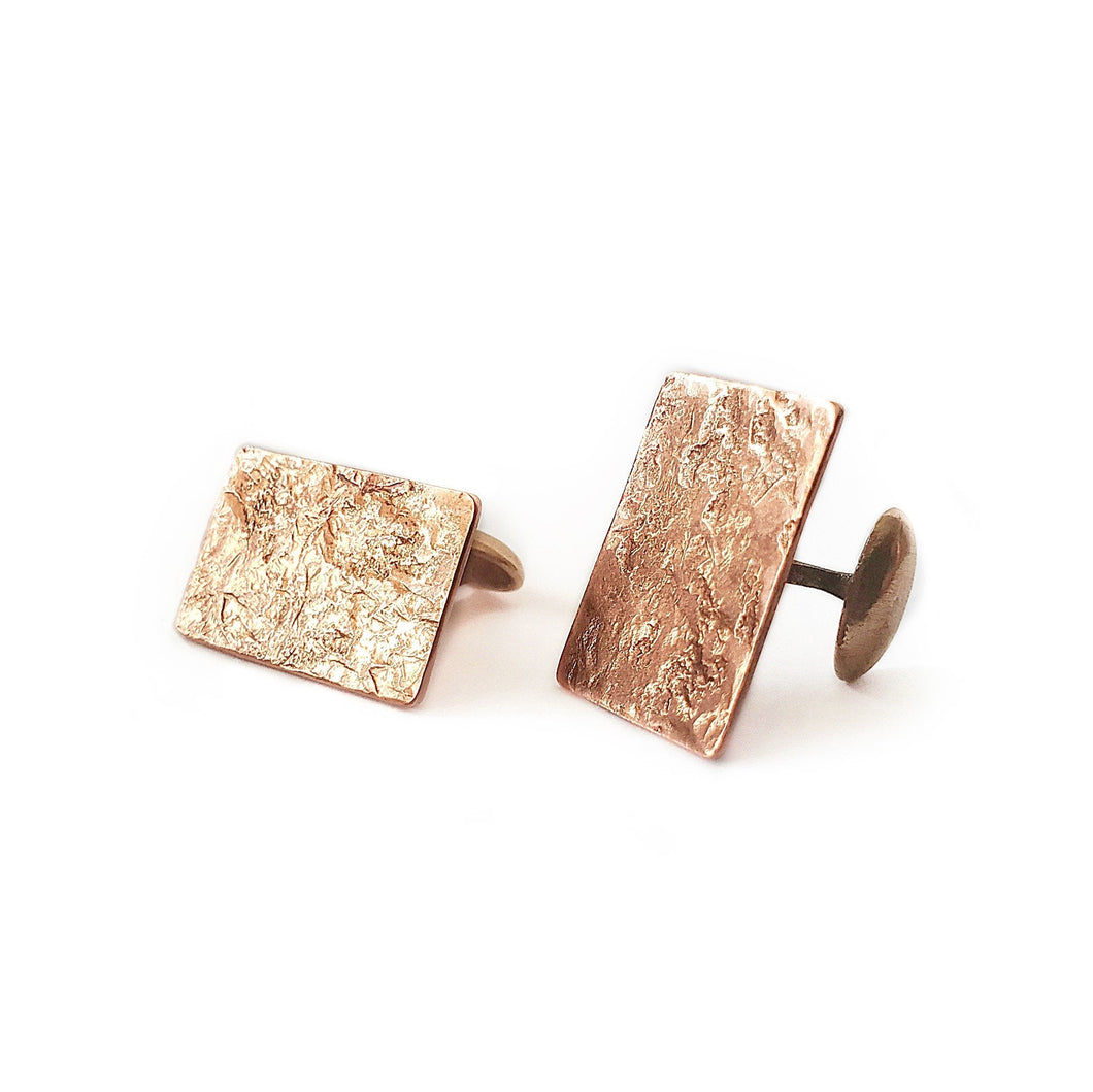 Hand Textured- Copper Cuff Links