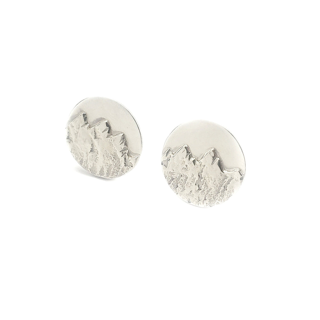 Cuff links - Mountains - Sterling Silver