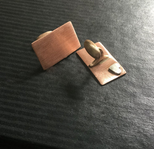 Hidden Heart - Copper - Cuff Links