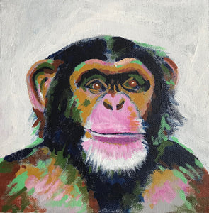 MONTY MONKEY ACRYLIC CANVAS ARTWORK