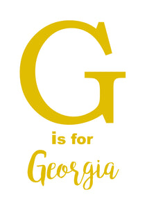 G IS FOR - PERSONALISED NAME PRINT