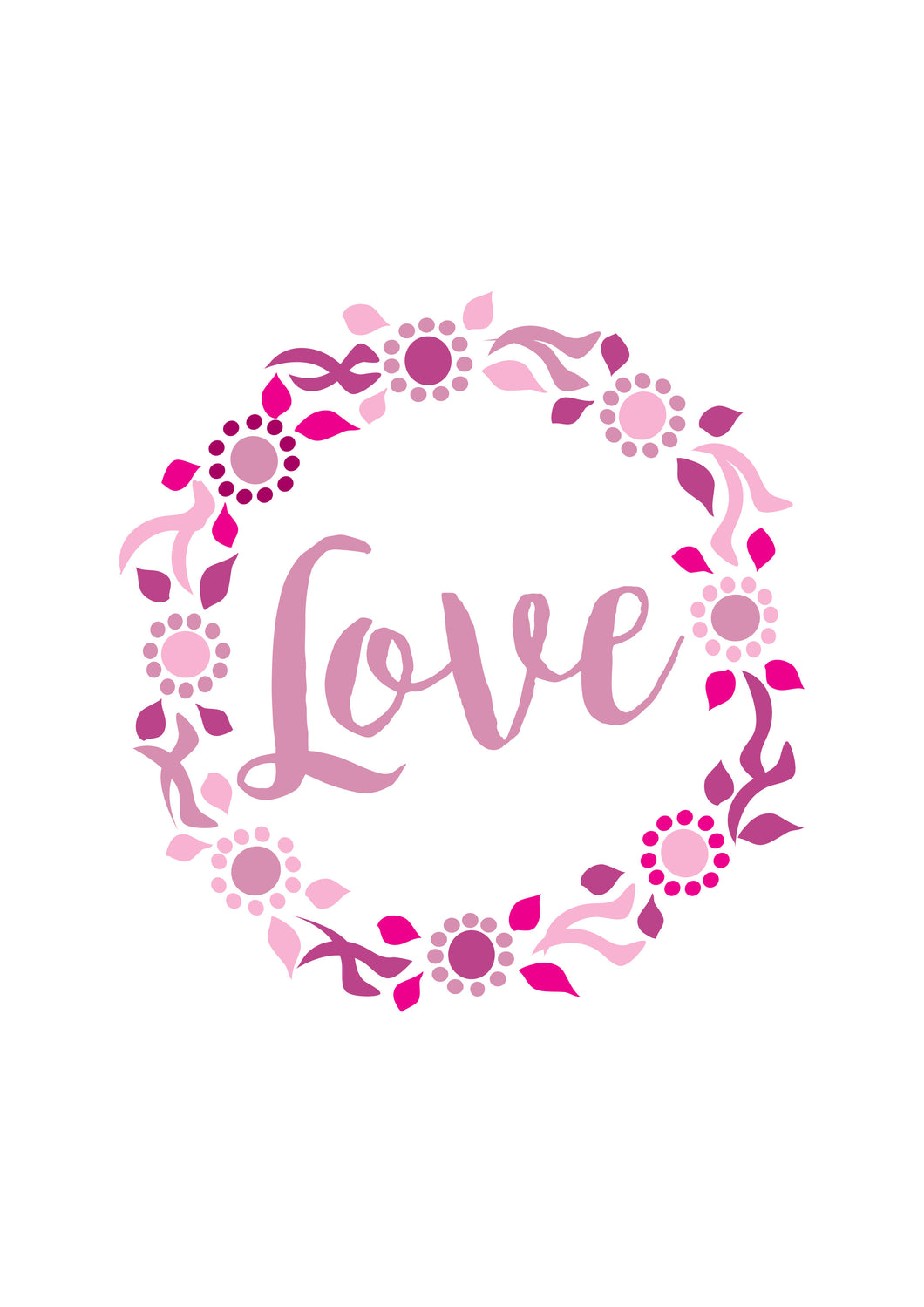 LOVE WREATH PRINT