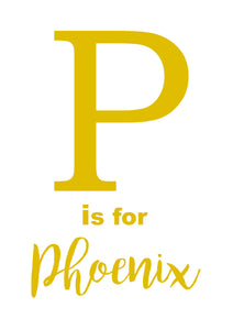 P IS FOR - PERSONALISED NAME PRINT