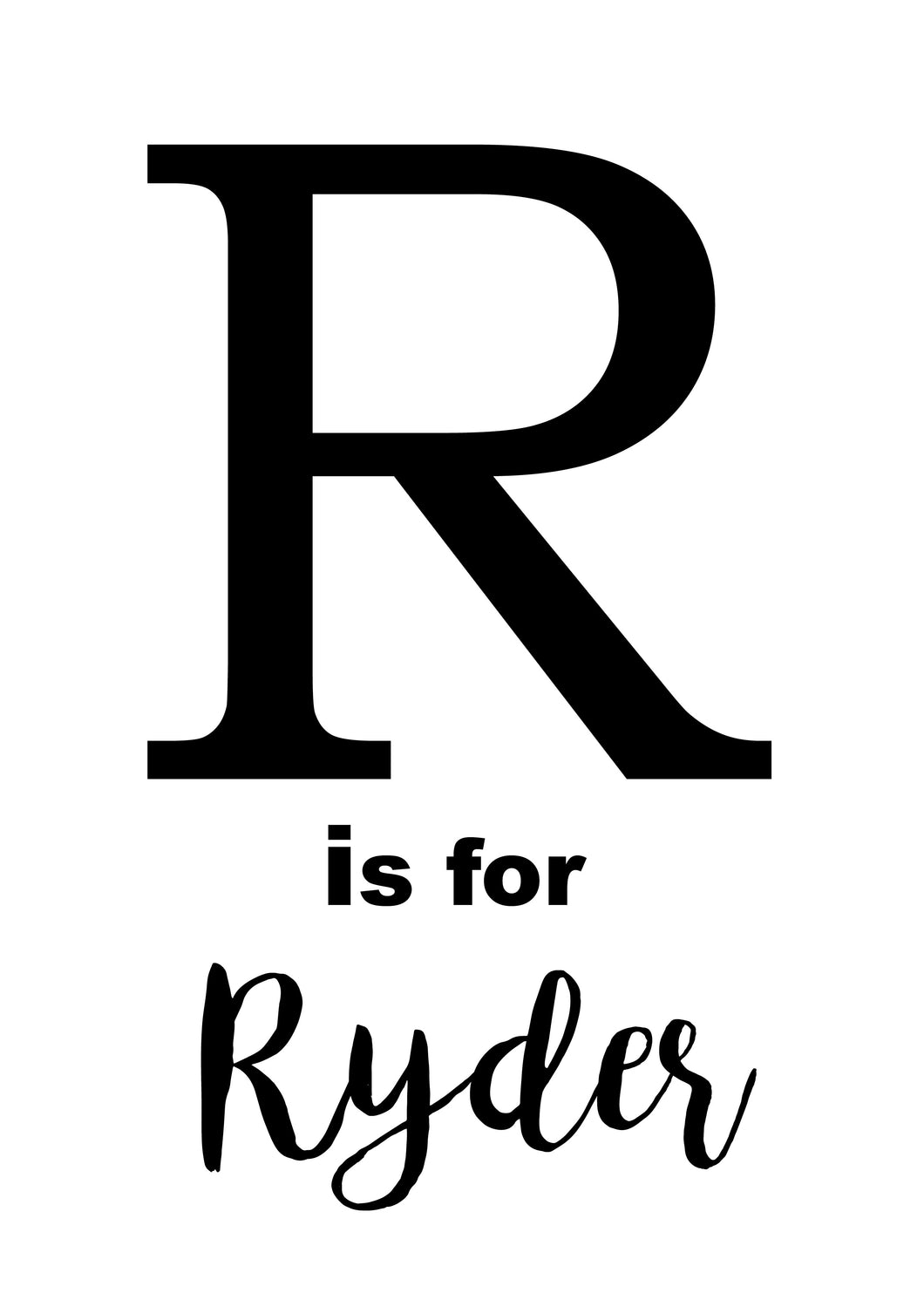 R IS FOR - PERSONALISED NAME PRINT