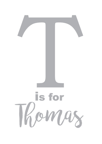T IS FOR - PERSONALISED NAME PRINT