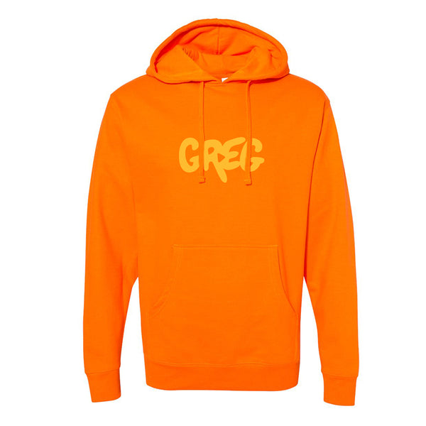 Greg 2.0 Safety Orange Pullover Hoodie