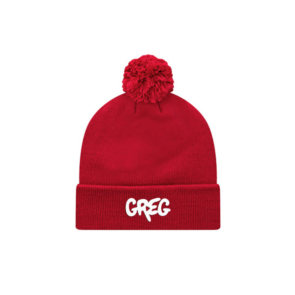 GREG V2 EMBROIDERED RED POM HAT