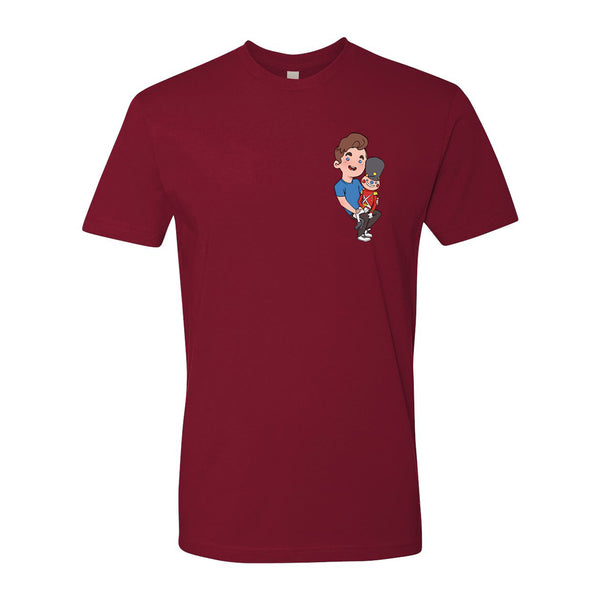 CARTOON NUTCRACKER TEE (CARDINAL)