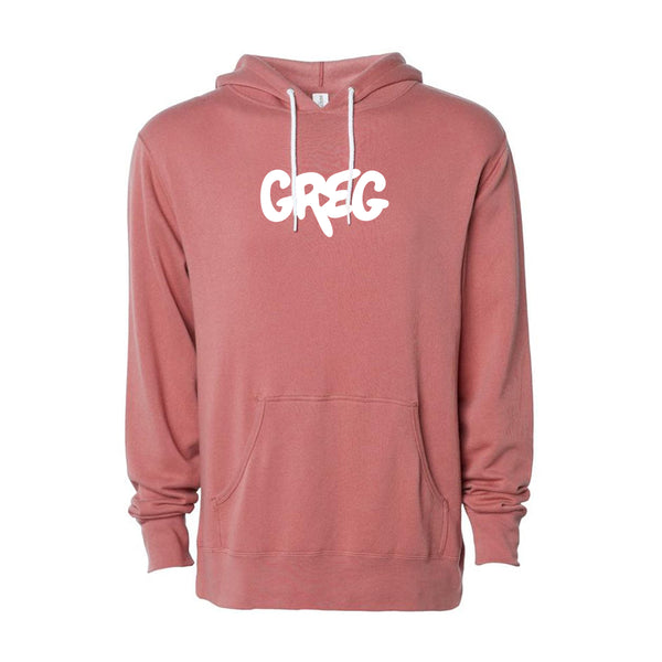 GREG PULLOVER HOODIE (DUSTY ROSE) v2