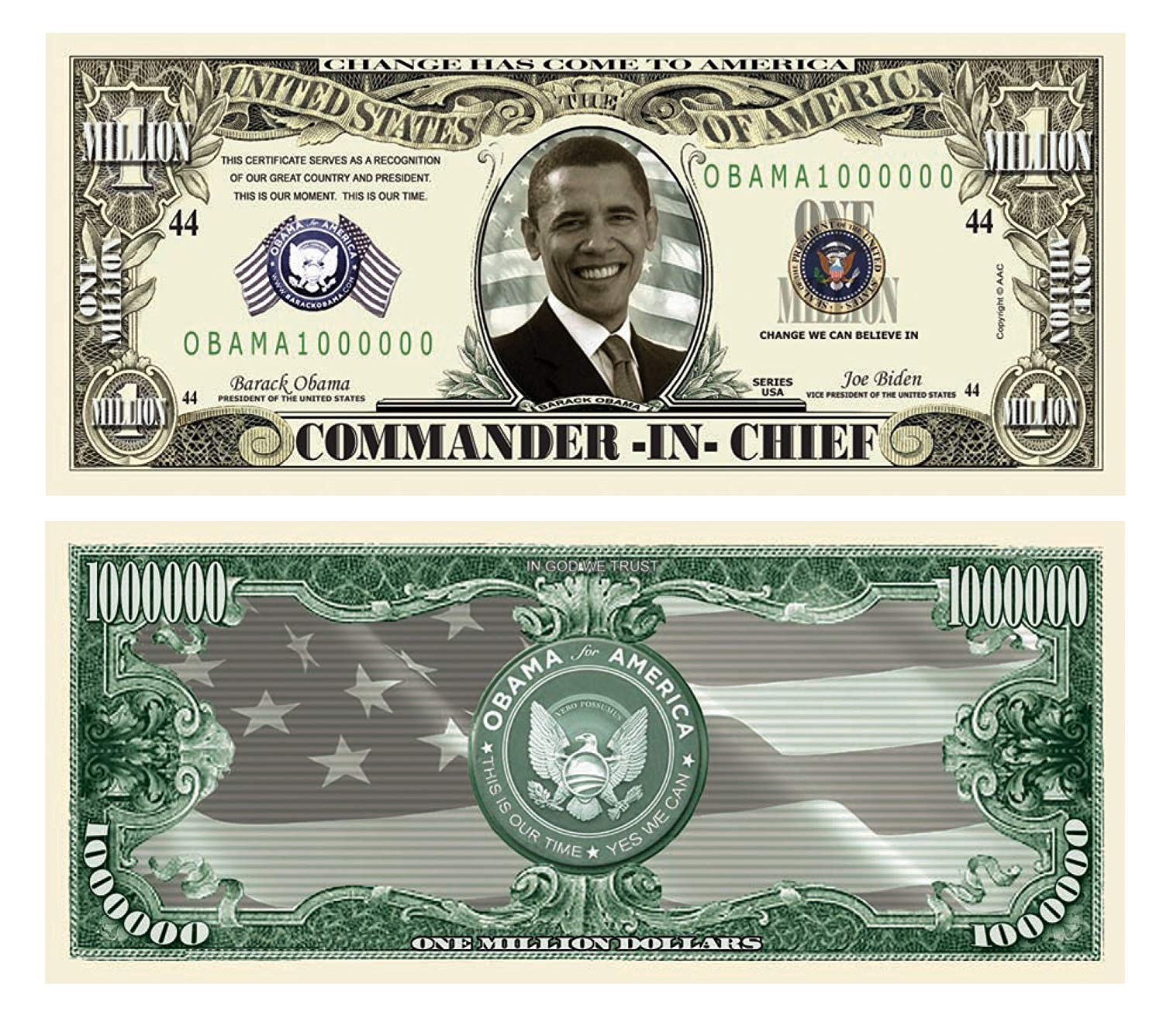 Obama Million Dollar Bill