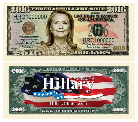 Image of Hillary for President Note